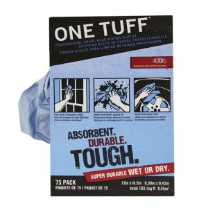 ONE TUFF WIPING CLOTHS 100% Lint Free Sontara  (Pop Up dispenser box of 75)